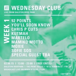 NTS Radio x Carhartt WIP – Wednesday Club Rooftop Rave Up