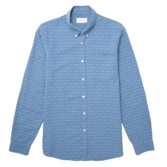 Hawskmill-Chambray Stripe Shirt 1