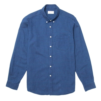 Hawskmill-Indigo Dot Shirt 1