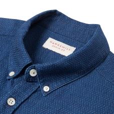 Hawskmill-Indigo Dot Shirt 2